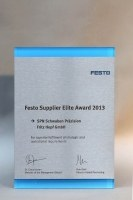 Zwei neue Festo Supplier Elite Award 2013