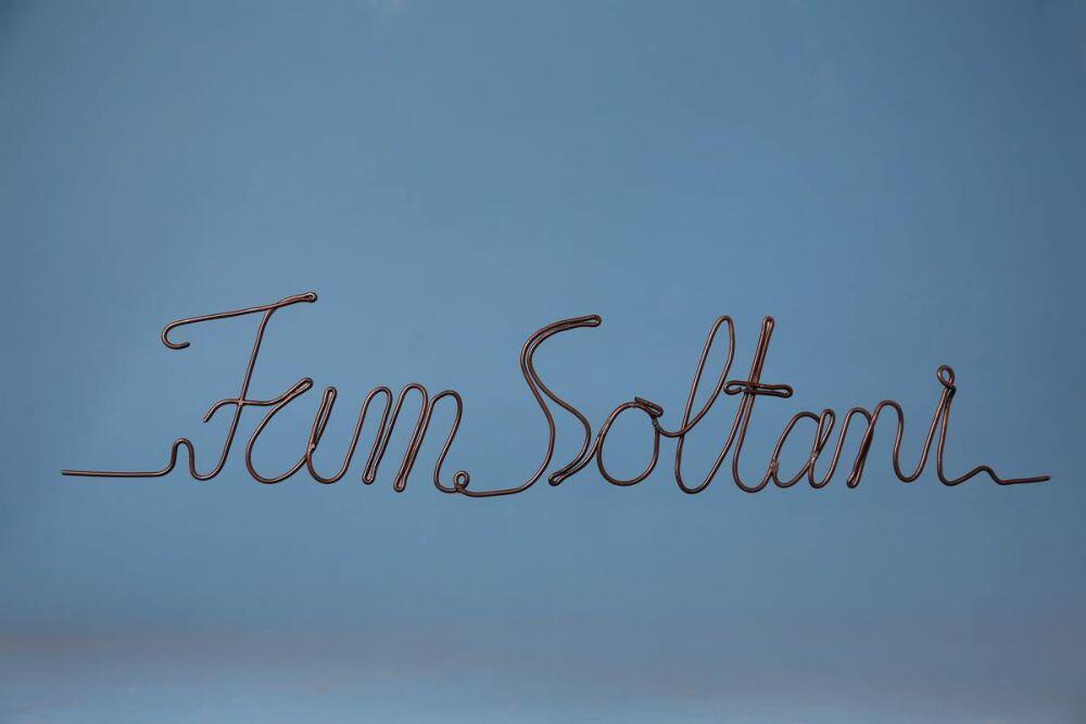 Schriftzug mit Ihrem Namen aus 2 mm Draht