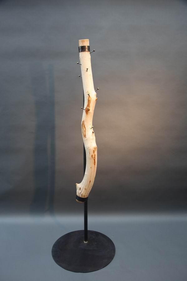Baumstamm Garderobe Aus Stahl Und Holz