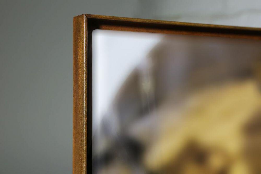 Bilderrahmen mit rostiger Oberfläche für Keilrahmen
