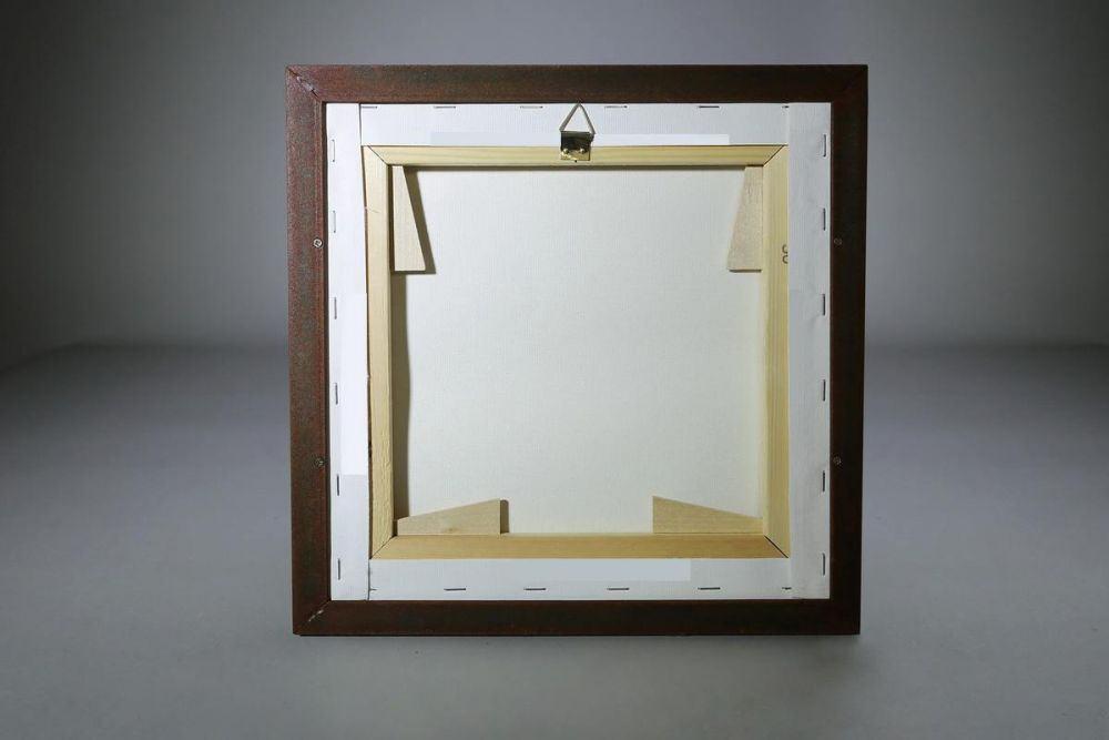 bilderrahmen mit rostiger oberfl che f r keilrahmen. Black Bedroom Furniture Sets. Home Design Ideas