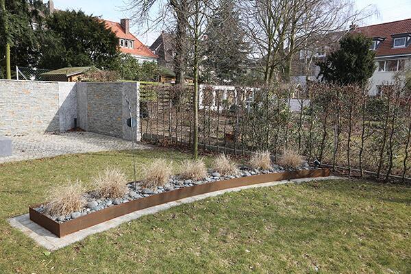 Corten Stahl Beeteinfassung Für Den Garten Und Die Terrrasse