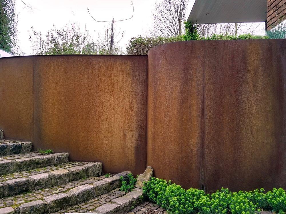 In Diesem Garten Haben Wir Vor Ein Paar Jahren Cortenstahl Elemente