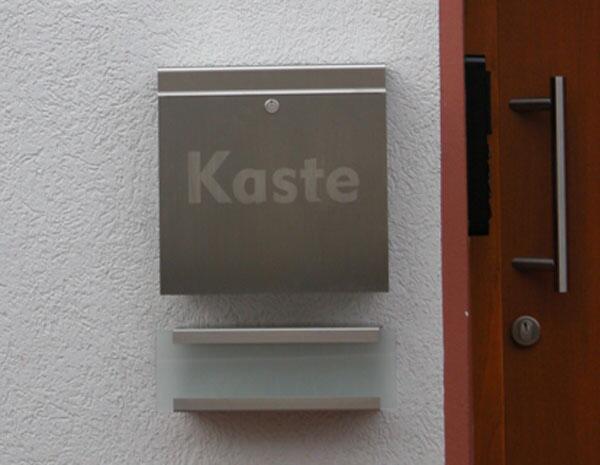 Briefkasten Aus Edelstahl Zeitungsrolle Und Hausnummer