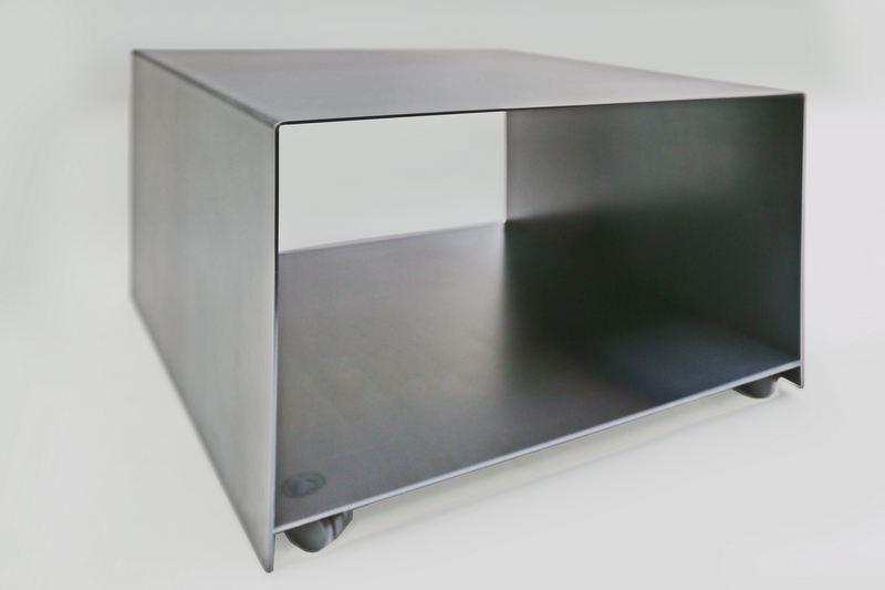 rollbarer drucker tisch aus 3 mm stahl. Black Bedroom Furniture Sets. Home Design Ideas