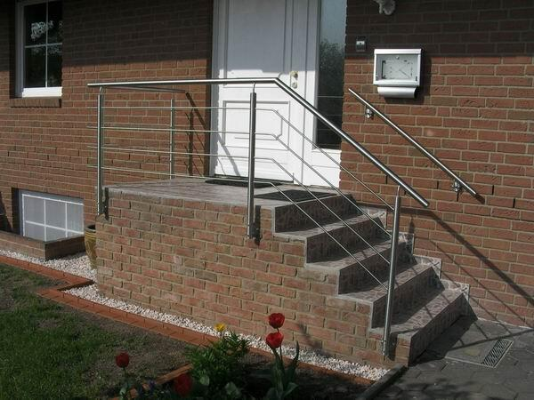 Sehr Treppengeländer aus Edelstahl, Preis per laufenden Meter IZ94