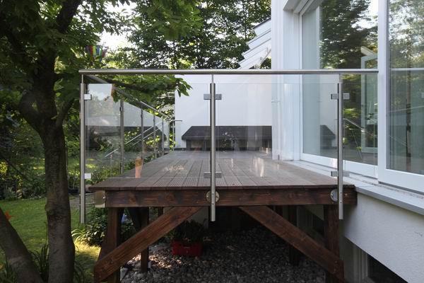 Edelstahlgeländer Mit Glasfüllung Preis Per Laufenden Meter