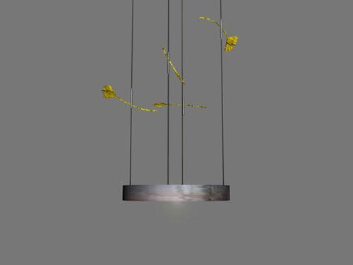Kronleuchter Mit Blättern ~ Ginkgo leuchte kronleuchter mit großen vergoldeten ginkgo