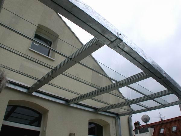 Glasdach Balkon   Glas Schiebedach Terrassenuberdachung Mit Glasfullung