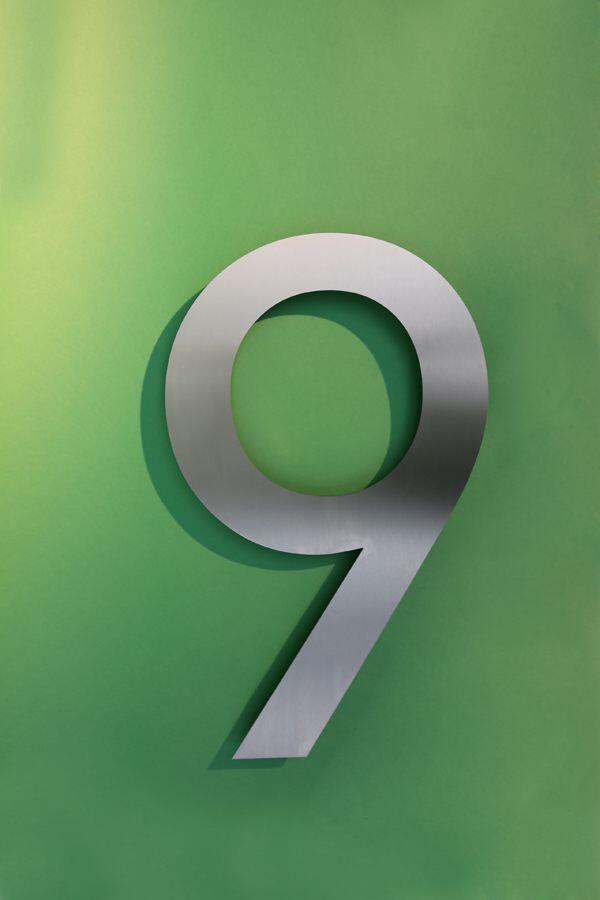 9 Edelstahl Hausnummer