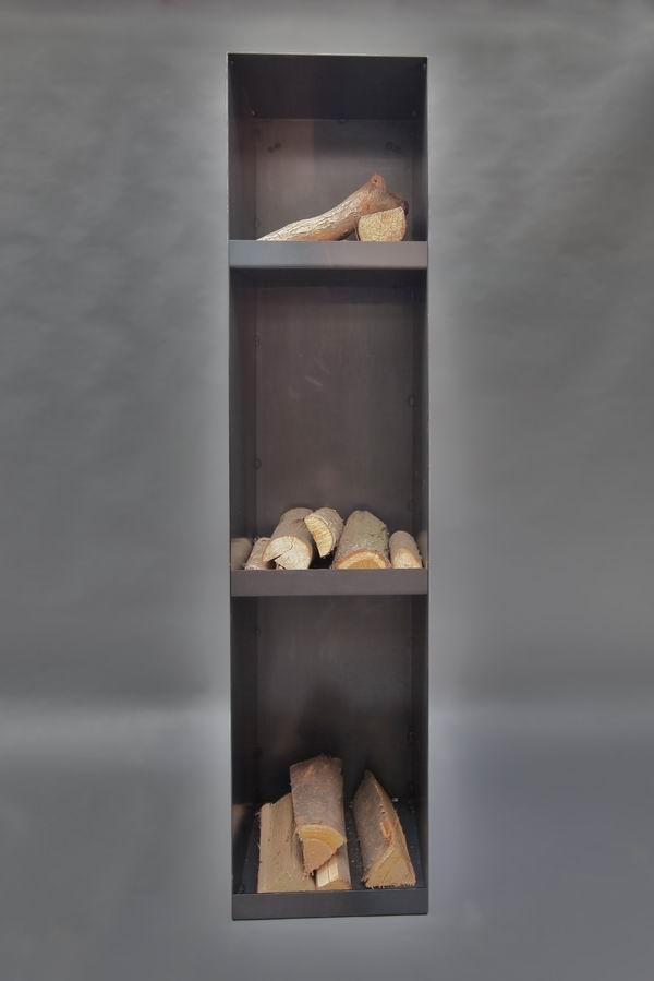 stahl regal f r kaminholz. Black Bedroom Furniture Sets. Home Design Ideas