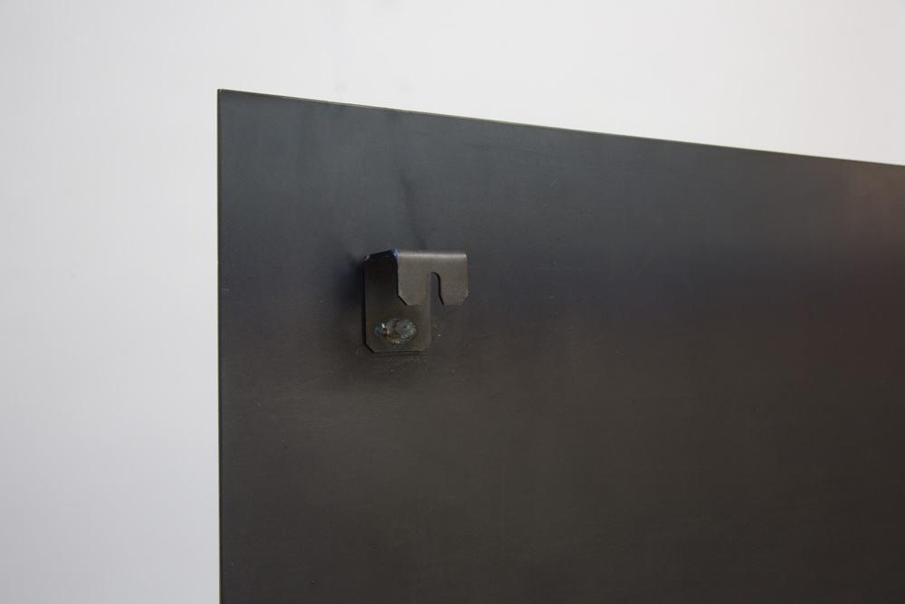 verdeckt befestigte magnetpinnwand aus 3 mm stahlblech. Black Bedroom Furniture Sets. Home Design Ideas