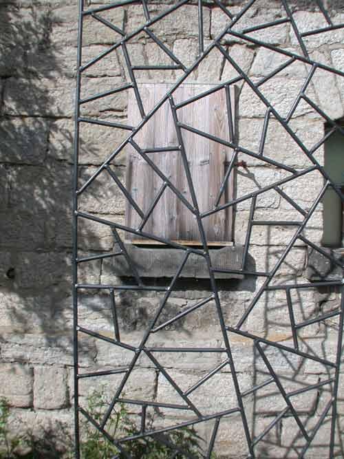 rankgitter aus feuerverzinktem lackierten stahl mit