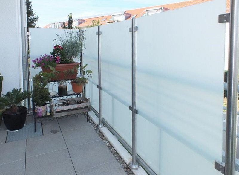 Sichtschutz Und Windschutz Aus Glas