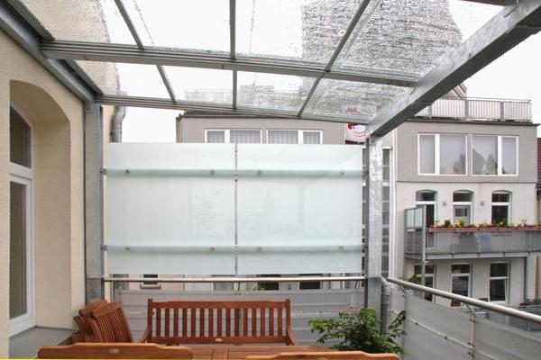 Windschutz Und Sichtschutz Fur Einen Balkon