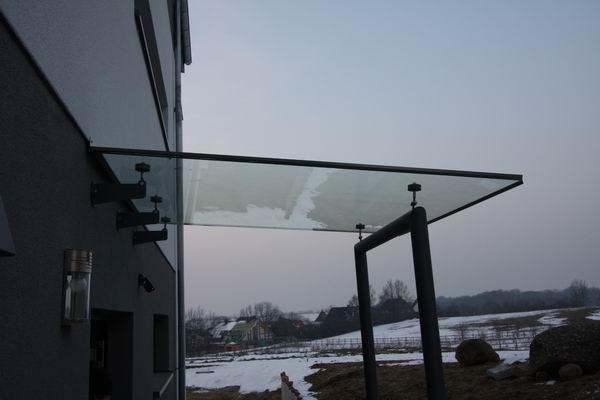 Vsg Glas Kraftvoll Edelstahl Vordach Vordächer Inkl Heimwerker
