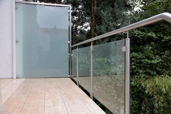windschutz und sichtschutz aus edelstahl und sicherheits glas, Design ideen