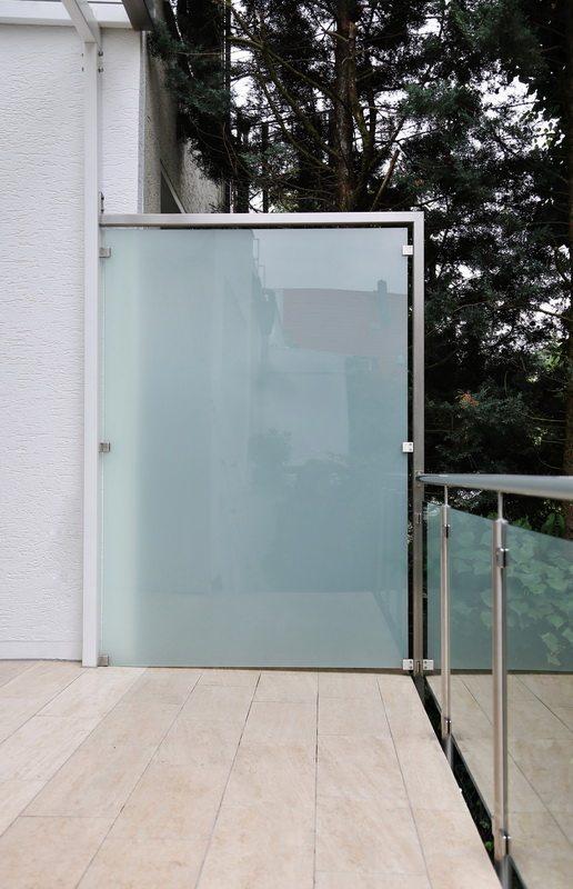 sichtschutz glas edelstahl, windschutz und sichtschutz aus edelstahl und sicherheits glas, Design ideen
