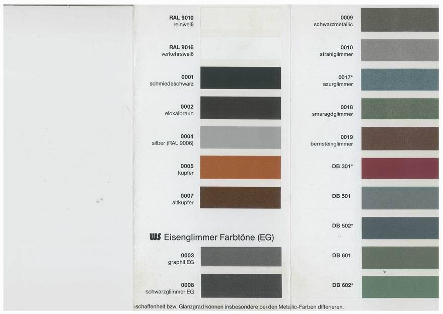 Verfugbare Farben Fur Eine Lackierung Auf Feuerverzinktem