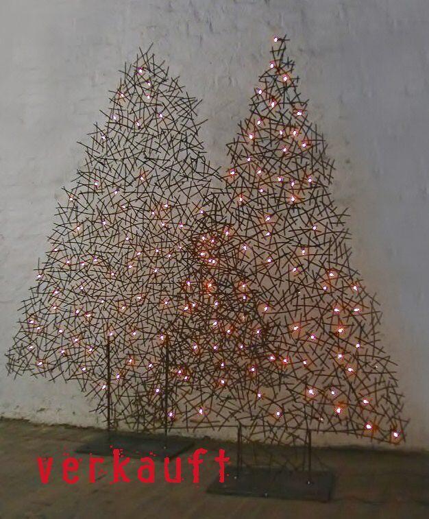 Weihnachtsbaum Drahtgestell.Weihnachts Tannenbäume Aus Draht Beleuchtet
