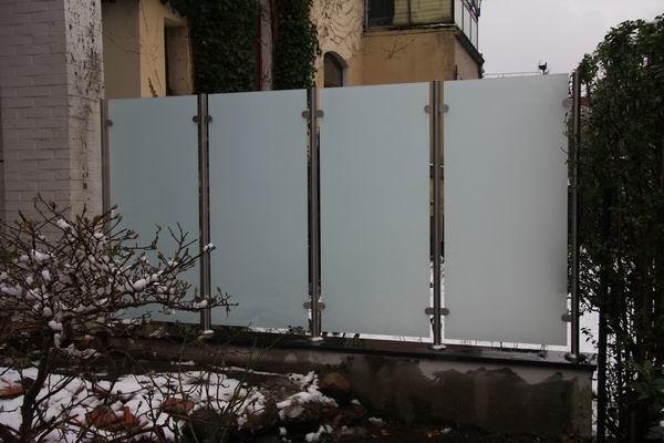 sichtschutz glas edelstahl, wunderbar! windschutz und sichtschutz aus edelstahl und glas in, Design ideen