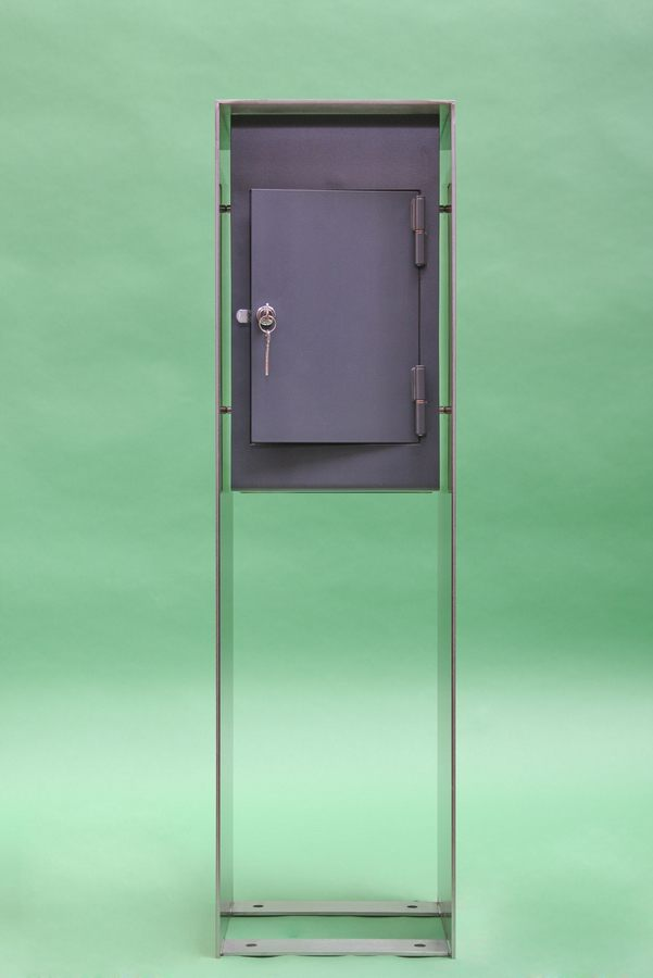 freistehender briefkasten aus edelstahl. Black Bedroom Furniture Sets. Home Design Ideas