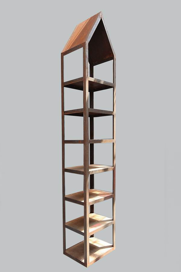 garten regal aus rostigem stahl. Black Bedroom Furniture Sets. Home Design Ideas