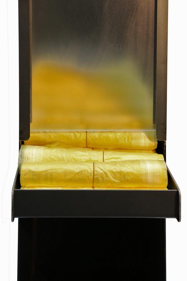gelber sack spender f r die stadt l rrach. Black Bedroom Furniture Sets. Home Design Ideas