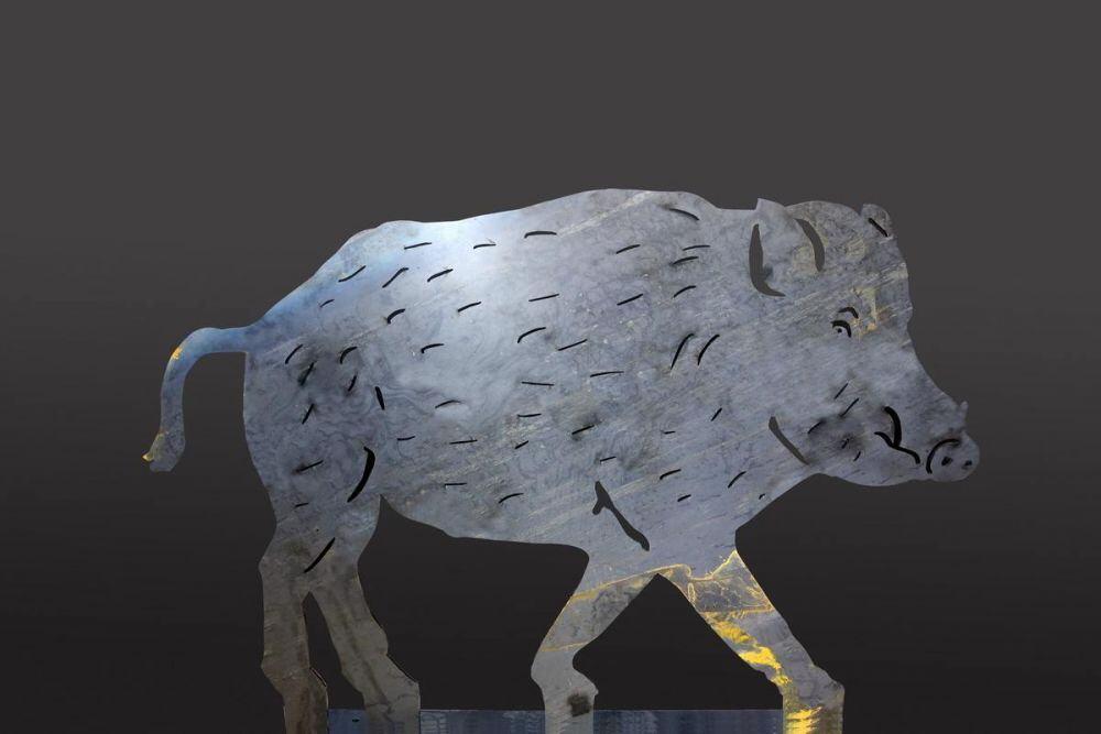 wildschwein aus 8 mm stahl gelasert. Black Bedroom Furniture Sets. Home Design Ideas