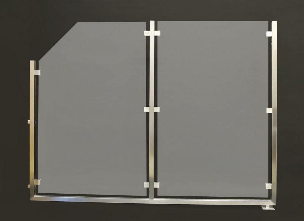 sichtschutz und windschutz aus edelstahl und sicherheitsglas. Black Bedroom Furniture Sets. Home Design Ideas