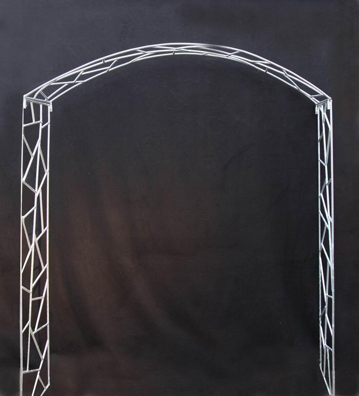 rosenbogen aus feuerverzinktem 10 mm rundstahl. Black Bedroom Furniture Sets. Home Design Ideas