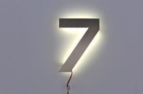 Hausnummer Beleuchtet 7 mit led beleuchtet