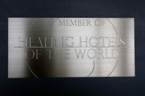 Healing of the World - Schild aus Edelstahl
