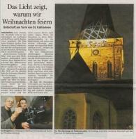 Bericht über die Projektion auf den Turmhelm der St. Katharinen Kirche in Osnabrück