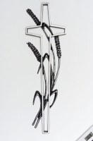 Grabkreuz mit einer Kornähre