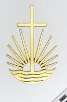 Grabkreuz mit Sonne