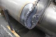 """15.1.2010 Die Lok ist vorne geschlossen, an die Esse werden """"Gußteile modelliert"""" und die Lokomotive wird gealtert."""