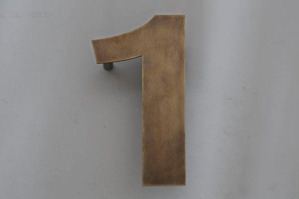 """""""1"""" Hausnummer aus Tombak"""
