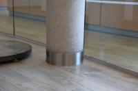 Säulenverkleidung oder Scheuerleiste aus Edelstahl