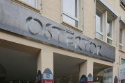 Schild aus Corten Stahl für das Ostertor in Hildesheim