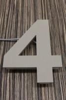 pulverbeschichtete LED Edelstahl Hausnummer 4