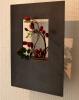 Wandhängende Blumenvase aus verzundertem Stahl