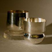 Handgeschmiedeter Becher aus Silber 925/1000