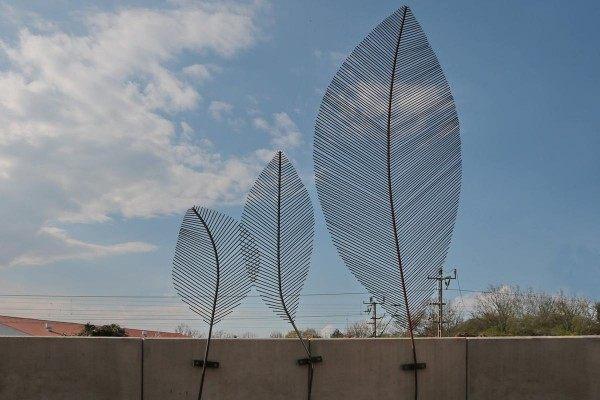 3 Stück Blätter aus 5 mm Rundstahl