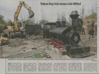 """Schöner Bericht über die neue Lokomotive im Zoo Hannover in der """"Neue Presse Hannover"""" vom 4.5.2010"""