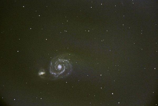 M51, die Whirlpool-Galaxie oder Strudelgalaxie