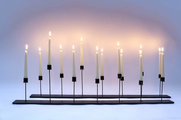 2 Stück 7 flammige Kerzenleuchter