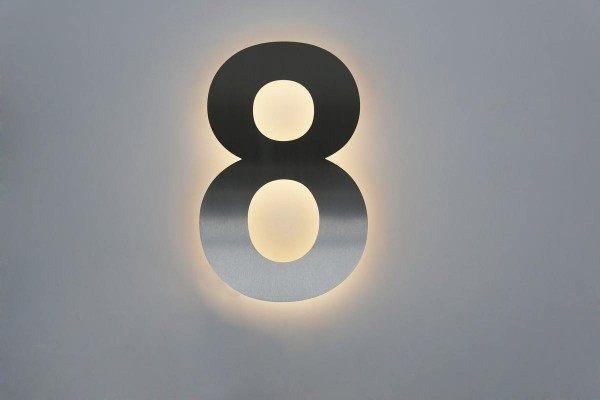 Led Hausnummer 8