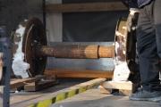 25.1.10 Die riesige Lampe wird fertig und die Achsen sind da