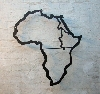 Der afrikanische Kontinent aus Stahl geschnitten